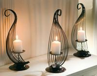 ingrosso portacandele per matrimoni-Portacandela moderna decorazione della casa candela decorata con decorazioni in ferro