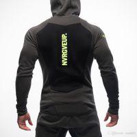 sudadera deportiva al por mayor-Nuevo Mens Bodybuilding Hoodies Gym Workout Camisas con capucha Sport Trajes Chándal Chandal Hombre Gorila wear Animal