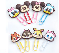 Wholesale Paper Filing Clips - Cute Cartoon Book Mark Paper Clip Multi Fuction ABS Handmake Craft Character Clips Files Paper Book Mark Bookmark