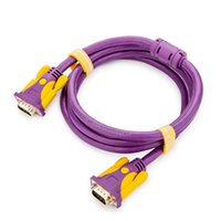 Wholesale Multiple Monitors Adapter - VGA 3+9 Video Extension Cable Male to Male Connector Gold-plated Adapter Multiple Shielding Purple VGA Cable for Projector,Computer,Monitor