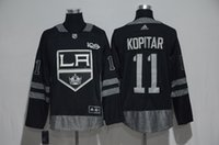 2017 Stitching adlads Autentico Los Angeles Squadra Kings Kopitar 100 Patch Maglie sport Baseball Hockey Maglia Calcio College Maglia Drop Ship