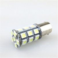 Wholesale S25 27 - Car LED Light S25 BA15S 1156 BAY15D 1157 27 SMD 5050 Led Car Bulb 12V Brake Light Automotive Turn Indicator lights
