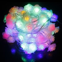 Venda por atacado - Mais recente bateria operada Rose String Lights 5m 40 LED Flower Fairy Light String para interior e exterior Waterproof Holiday Light