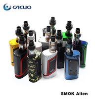 Authentische SMOK Alien 220 Watt Starter Kit Alien Box MOD mit 3 ml TFV8 Baby Tier Tank V8 Baby-Q2 Baby-T8 Spule 100% ecig vape stift
