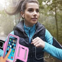 Wholesale Case S4mini - Wholesale-For 3.5 Inch Adjustable SPORT GYM Armband Bag Case For iPhone 4 4S Samsung S3mini S4mini Waterproof Jogging Arm Band Belt Cover