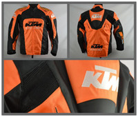 Wholesale Motorbike Protective Gear - Brand-2016 new High quality KTM motorcycle Racing jacket oxford clothes motorbike jacket big size with protective gear size M to XXXL