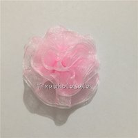 Wholesale Silk Voile Ribbon - 6cm camellia rose flower clips Satin silk chiffon voile lace flowers Brooch Wholesale price