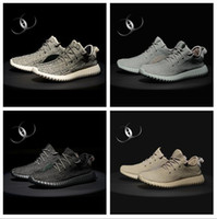 Wholesale Solid Keychain - [with Box socks receipt keychain] Wholesale 2017 350 Boost Pirate Black Moonrock Oxford Tan Turtle Dove Men Running Shoes Sneaker