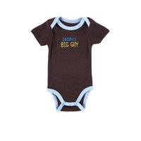Wholesale New Cheap Baby Boy Clothes - 2016 Hot Sale New Born Baby Clothes 100% Cotton Brand Kid Clothing Unisex Comfortable One Piece Bodysuits 0-12 Months Cheap