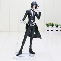 Wholesale Black Butler Toys - Japan Anime Black Butler figure Sebastian Michaelis boxed PVC Action Figure Collectible Model Toy approx 24cm free shipping