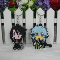 Wholesale Sword Girl Online - Sword Art Online PVC Keychain advertising promotional pendant Llavero Chaveiro Lovely classic Fashion cosplay collection Toy 2017 wholesale