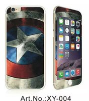 Superman Skin Iphone Pas Cher-Plein corps 9H Protecteur d'écran en verre trempé Captain America Cartoon Girl Hello kitty Superman Totoro Pour Iphone SE 5 5S 6 Plus 6S 4.7 Skin