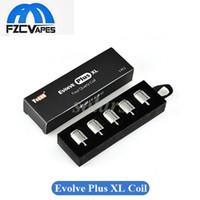 Wholesale Rods Wholesales - Authentic Yocan Evolve Plus XL Wax Coil Quad Quatz Rod Coil Head Pure and Clean Vapor 100% Original