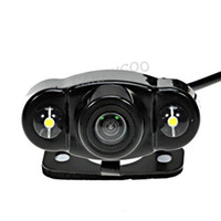 Wholesale Toyota Backup Cameras - Auto Parktronic New Style HD Car Rear View Reverse Camera Night Vision Car Backup Rear Camera Parking Camera With 2 LED Lights