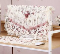 Wholesale Elegant Pastoral Fabric Desktop Computer Cover Lace Computer Dust Cover Keyboard Host Cloth Towel Suit quot quot quot Desktop Computer