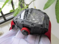 Wholesale Men Real Watches - RM35-01 REAL CARBON 50mm RAFAEL NADAL RMUL3 automatic men watch wristwatch water resistant