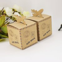 Cadeau 100pcs Avion Kraft Candy Box Avion Wedding Anniversary Party de Noël Faovrs Paper Box Livraison gratuite