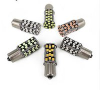 Wholesale P21w Led Error Free - 10PCS 1156 P21W Canbus LED P21W 1156 7506 Error Free High Power Reverse Backup light Lamp Bulb
