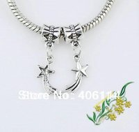 Wholesale Bead Sun - 150pcs Mixed Tibetan Silver Star Moon Sun Charms Dangle Beads Fit European Bracelets DIY 13#