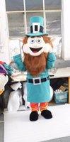 Wholesale Leprechaun Mascot Costumes - Wholesale-Leprechaun Larry Mascot Costume Adult Halloween Cartoon Mascot Costume Custom Made D0331