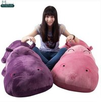 Wholesale Plush Hippo - Dorimytrader 63''   160cm Jumbo Stuffed Soft Plush Cute Giant Cartoon Animal Hippo Toy 5 Colors Nice Baby Doll Gift Free Shipping DY60988