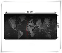 Wholesale Map Japan - Wholesale-Large Size 800*400*3MM World Map Speed Game Mouse Pad Mat Laptop Gaming Mousepad