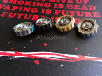 lapiceros al por mayor-SPINNER VAPE Finger Spinner Fidget Juguete Torqbar Atomizador Caja Mod Piezas 510 Conector de Rosca Extensor 4 colores aptos RDA Pen
