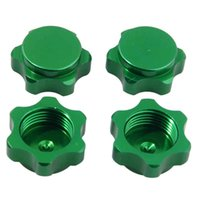 Wholesale Electric Rc Car Wheels - RC HSP Green Alum Wheel Hub Mount Nut 17mm Cover M12 For HSP 1:8 Car Buggy Truck