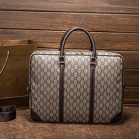 Wholesale Large Gray Handbag - Unisex Vintage Designer Handbags Men And Women Travel Shoulder Fashion Business Brand Simple Large Capacity Bag Printing Handbag Male Bags