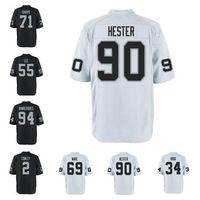 Wholesale Raiders Shirt L - american football jerseys Gareon Conley Obi Melifonwu Shalom Luani Elijah Hood shirts Customized throwback Raider jersey Men Women Kid 4xl