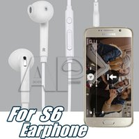Wholesale Earbuds Headphone Mic Volume Control - 3.5mm In-Ear Samsung S7 Wired Earphones Earbuds Headset With Mic & Remote Volume Control Headphones For Galaxy S6 S6 Edge S7 With Packaging