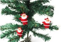 Wholesale Christmas Ornaments Wholesale Suppliers - Wholesale 300pcs lot New Christmas Hot Sale Classic Christmas Tree Ornament The Santa Claus Pendant For Christmas Decoration supplier