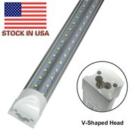 Wholesale Led High Bright White - Integrated 8ft 2.4m 2400mm 65W Led T8 Tube SMD2835 High Bright light 8 feet 6500lm 85-265V fluorescent lighting Free shipping 50