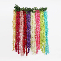 tienda hermosa al por mayor-Nueva y hermosa Flor Artificial Vine Rattan Wisteria Wreath Bouquet Wedding Home Garden Party Coffee Shop Decoration Código Producto: 102-1000