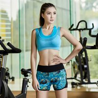 Wholesale Clothing Fashion Mark - Wholesale-2016 Women Fashion Summer Suit Yoga Fitness Clothing Running Gear Sports Bra and Short Pants 2 piece Outfit