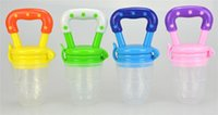 Wholesale Wholesale Baby Food Feeder - 3 Size Silicone Baby Food Nipple Feeder Fresh Juice Pacifier Safe Baby Bottles Pacifier Food Feeder Tool For Baby Children