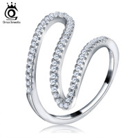 Wholesale Unique Simple Rings - ORSA Unique Simple Design Cocktail Rings for Women Trendy Ring Women Party Jewelry 2017 bijoux OR77