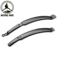 Wholesale Bike Mudguards Wholesale - Wholesale-[NaturalHome] Brand 2016 New Bike Bicycle Bicicleta Cycling MTB Front Rear Mudguard Mud Guards Quick Release Set