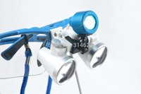 lupa led dental al por mayor-Al por mayor-3.5X420mm quirúrgica dental lupa lupa, lupa binocular con cabezal de LED de luz de lámpara de Freeshipping