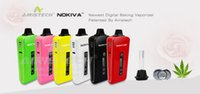 Wholesale Electronic Cigarette Herb Chamber - New Digital Airis Nokiva OLED display dry herb Vaporizer Herbal electronic cigarette temperature control with ceramic heating chamber