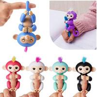 Wholesale Wholesale Novelties Items - Hanging Fingers Monkeys Electronic Fingerlings Little Baby Dolls 6 Colors PVC Pop Figures Novelty Fidget Kids Toys Gifts Items