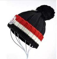Wholesale Popular Brand Knitted Hats - HOT brand popular Fashion Autumn Winter knitted hats for women beanies MON skullies Men Casual ski Hip-Hop Bonnet couple Caps