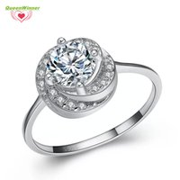 Wholesale Women S Wedding Rings - S925 Fashion Shinning 100% Sterling Silver Ring 925 Luxury High Quality For Women Wedding White Diamond Party Lover Gift Hot Sale S-02