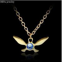 encantos de zelda al por mayor-Al por mayor-leyenda de Zelda collar Zelda Trifuerza colgante Navi collar de la joyería de la mariposa encanto collar de Papillon Dropshipping