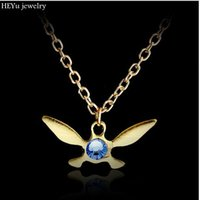 ingrosso fascini zelda-Collana Legend of Zelda Collana Zelda Triforce Pendant Navi Collana Butterfly Charm Papillon Dropshipping