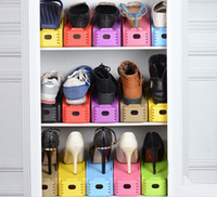 Wholesale Shoe Save Storage - Fashion Creative Storage Holders Shoes Rack organizer Space saver Space saving storage rack detachable double shoes portable shoe racks