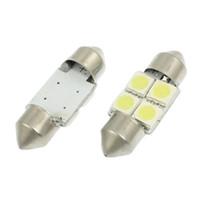 innen-dome-lampe für autos großhandel-100x Auto Festoon Dome Karte Innen LED Glühbirnen Auto Dach Lampe 31 MM 5050 4SMD Weiß