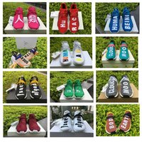 Wholesale God Japanese - NMD Human Race Running Shoes Shock Pink Japanese Letter Fear of God,Shock Pink,Burgundy Friends and Family,Yellow,Black,Human Being,Sun Glow