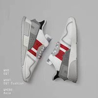 Wholesale Fabric Equipment - 2017 Fashion EQT Cushion ADV Europe Exclusive 91-17 Mens Running shoes Blue white grey Women Equipment Outdoor Athletic sneaker size 36-45