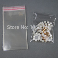 Wholesale Self Adhesives Label - Free shipping 1000pcs lot, 4 X 15cm OPP Clear Self Adhesive Seal plastic bag-all transparence glue strip seal clothing label packing sack